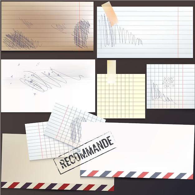 Gekritzelpapiersammlung Premium Vektoren