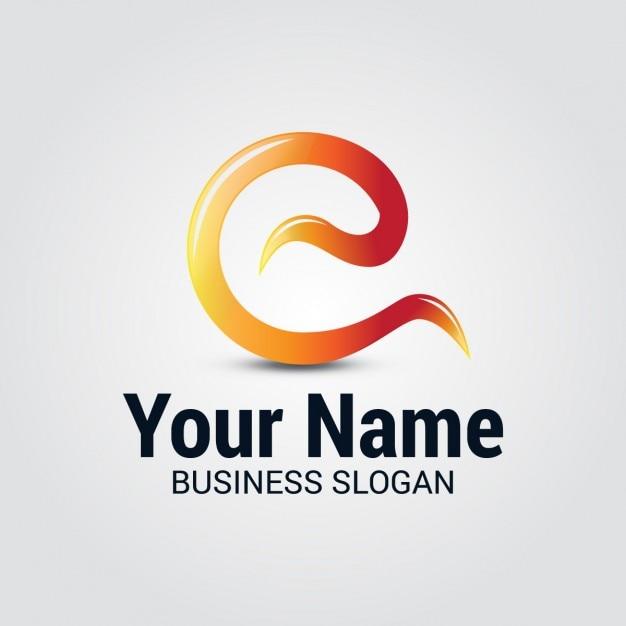 Gekrümmte wellen letter e logo Kostenlosen Vektoren