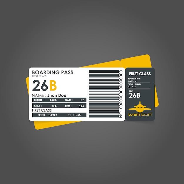 Gelb bordkarte vorlage Kostenlosen Vektoren