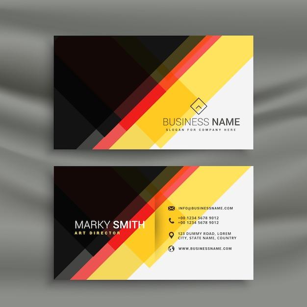 Gelb Rot Und Schwarz Kreative Visitenkarte Design Download