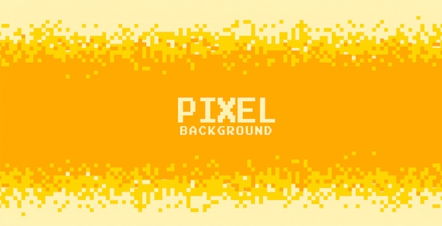 Gelb und orange schattiert pixelhintergrunddesign Kostenlosen Vektoren