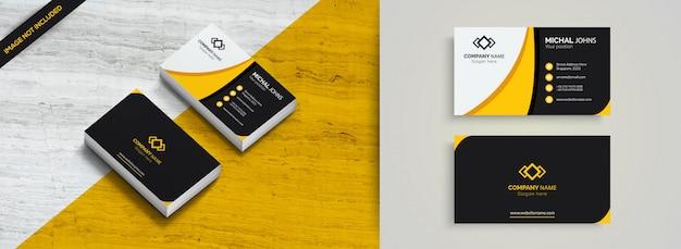 Gelbe elegante unternehmenskarte Premium Vektoren