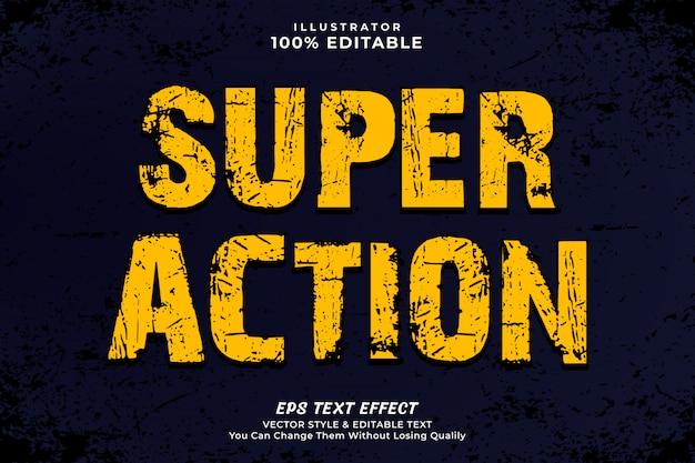 Gelbe farbe action text style effektvorlage Premium Vektoren