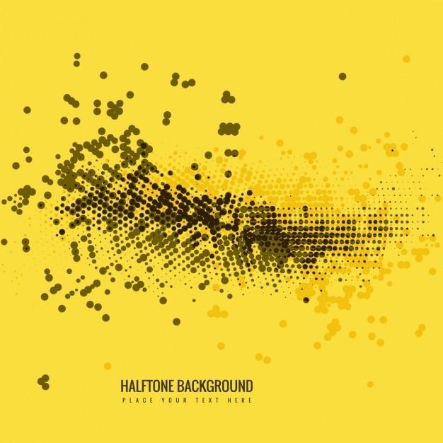 Gelbe farbe halbton-hintergrund Kostenlosen Vektoren
