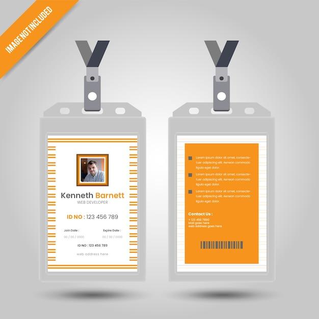 Gelbe id-karte Premium Vektoren