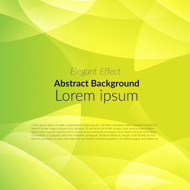 Gelber abstrakter schatten auf grünem hintergrund Premium Vektoren
