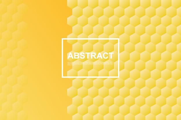 Gelber bienenwaben-hexagonhintergrund Premium Vektoren