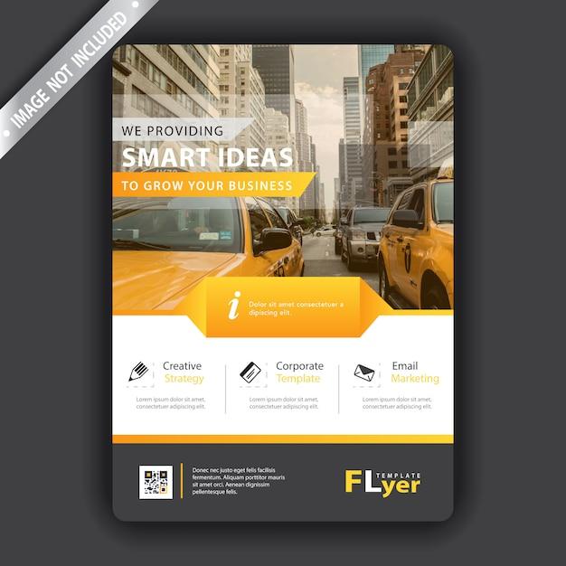 Gelber flyer Kostenlosen Vektoren