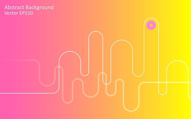 Gelber rosa abstrakter vektorhintergrund Premium Vektoren