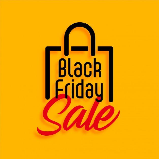 Gelber schwarzer freitag-einkaufsverkauf Kostenlosen Vektoren