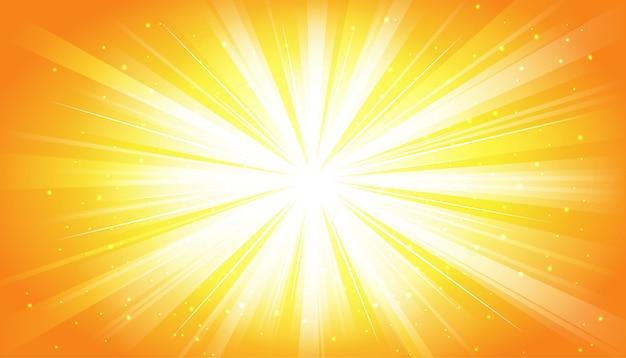 Gelber sonniger strahlenhintergrund Kostenlosen Vektoren
