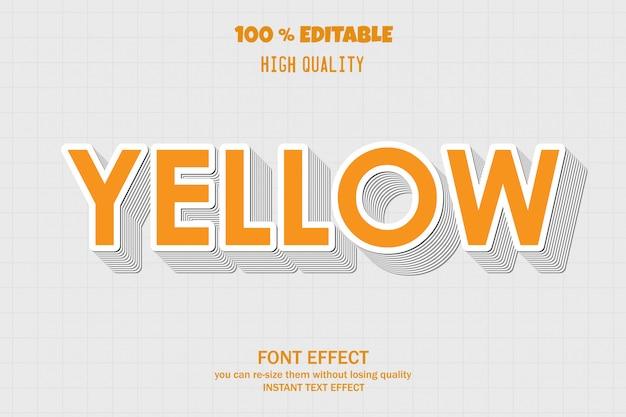 Gelber text, bearbeitbarer schriftarteneffekt Premium Vektoren