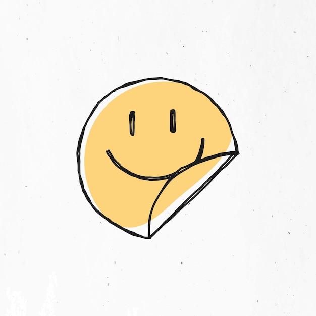 Gelbes lächelndes gesichtssymbol Kostenlosen Vektoren