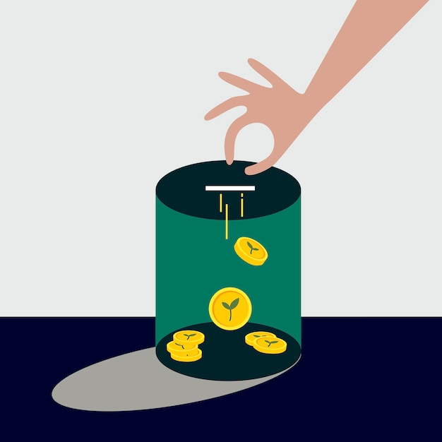 Geld für die illustration der umweltfinanzierung sammeln Kostenlosen Vektoren