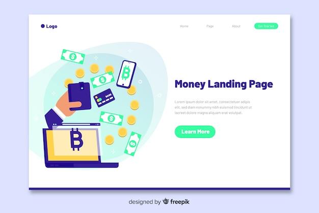 Geld konzept landing page Kostenlosen Vektoren