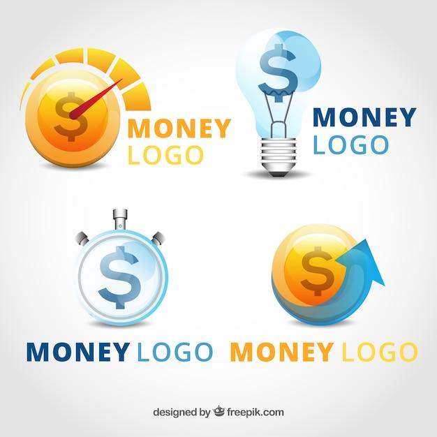 Geld Logo Vorlage Sammlung | Download der kostenlosen Vektor