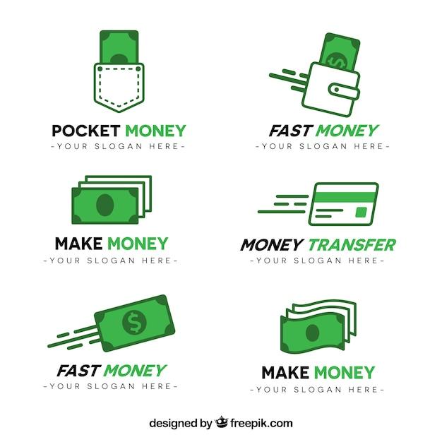 Geld logo vorlage sammlung Kostenlosen Vektoren