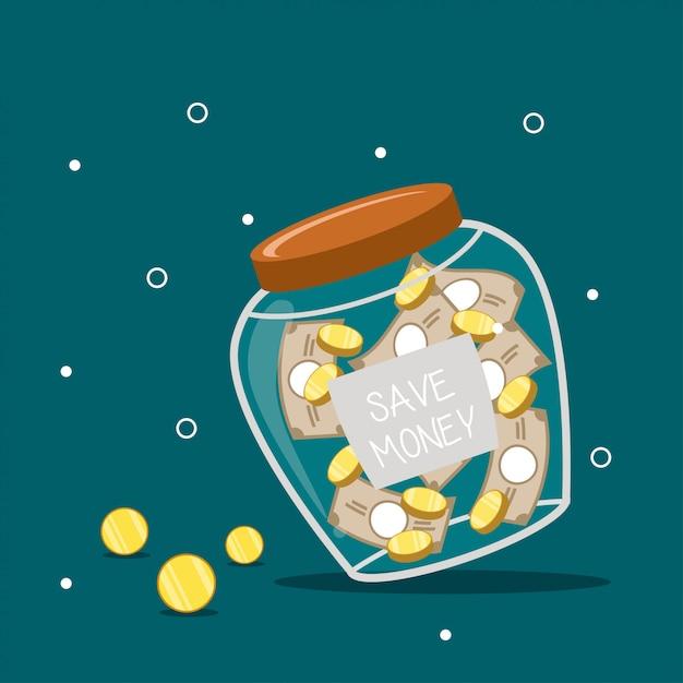 Geld sparen illustration Premium Vektoren