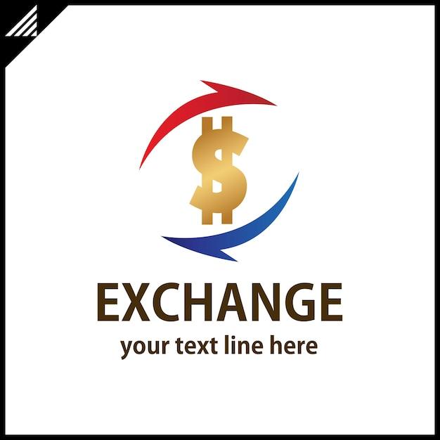 Geld wechseln Logo | Download der Premium Vektor