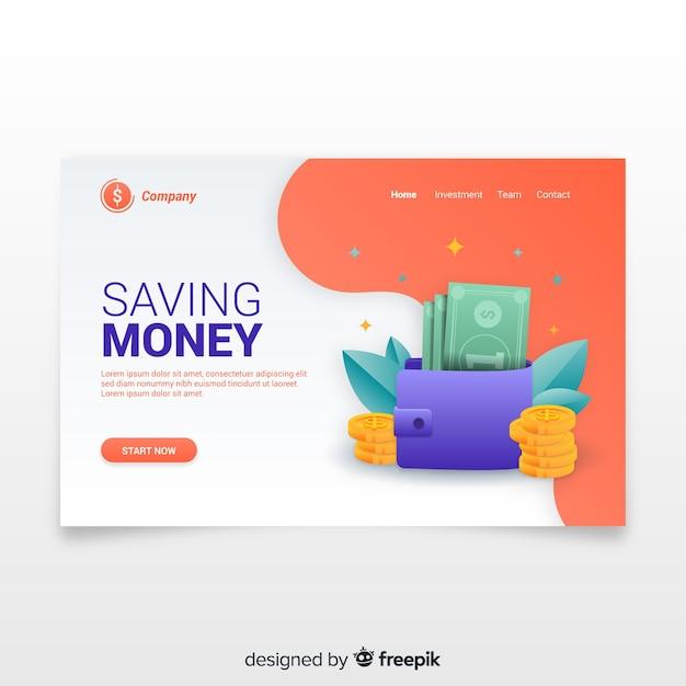 Geld zielseite Kostenlosen Vektoren