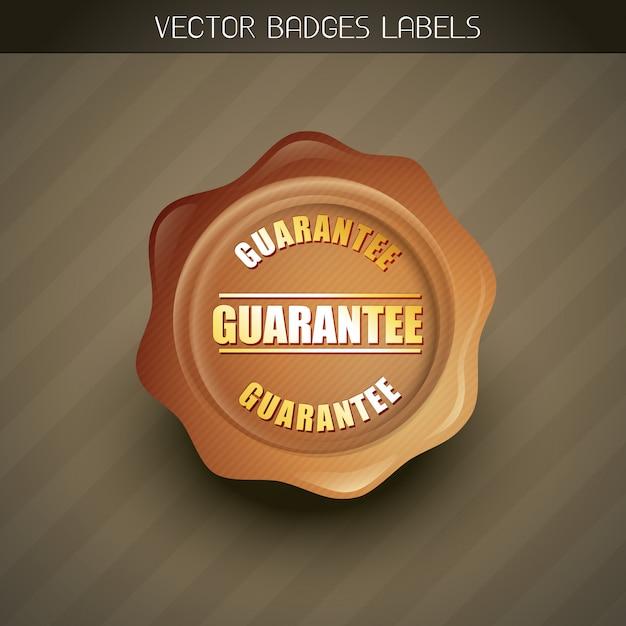 Geld-zurück-garantie-label Premium Vektoren