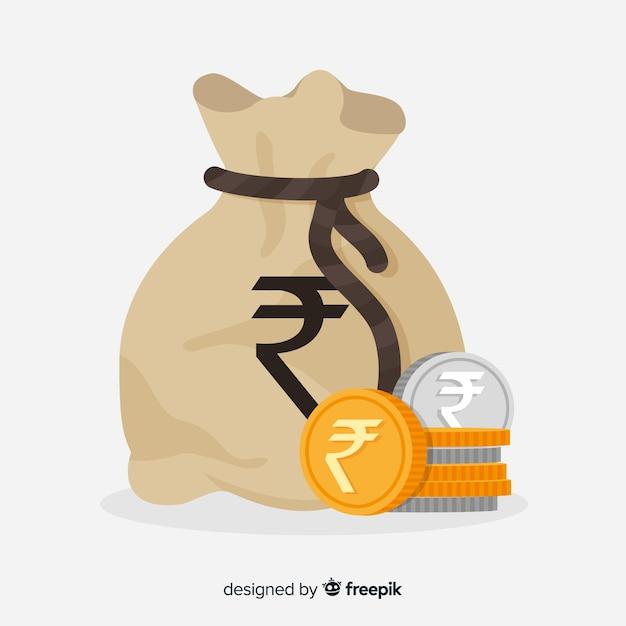 Geldbeutel aus indischer rupie Kostenlosen Vektoren