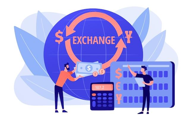 Geldwechsel. bankbetrieb. finanzdienstleistungen. finanzmarkt Kostenlosen Vektoren
