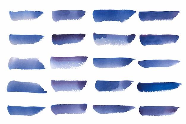 Gemalter aquarellhintergrundvektor im blau Kostenlosen Vektoren