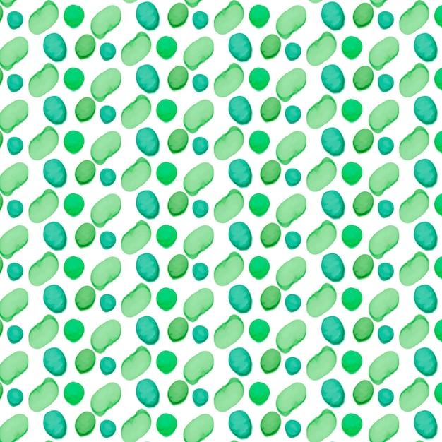 Gemaltes grünes dotty formt nahtloses muster Kostenlosen Vektoren