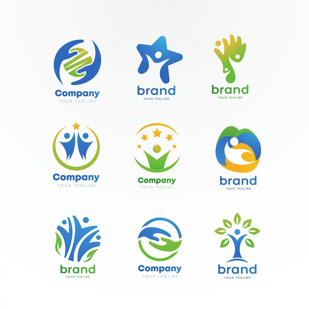 Gemeindepflege-logo Premium Vektoren