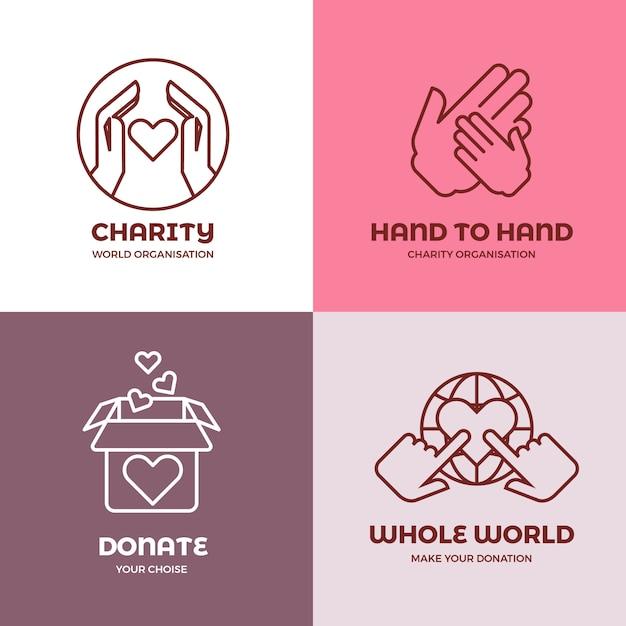 Gemeinnützige und freiwillige organisation Premium Vektoren