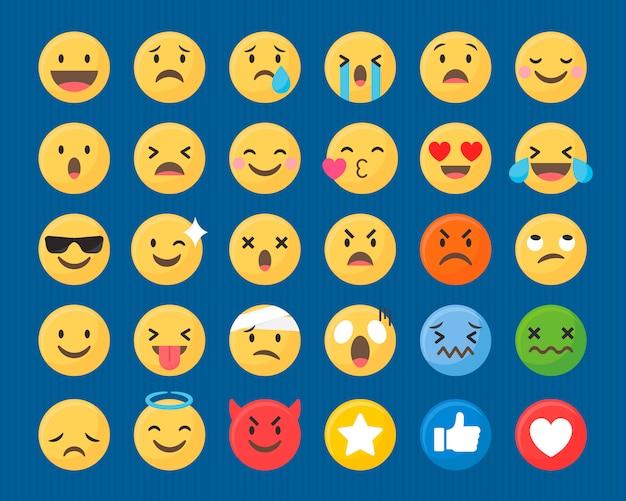 Gemischtes emoji-set Kostenlosen Vektoren