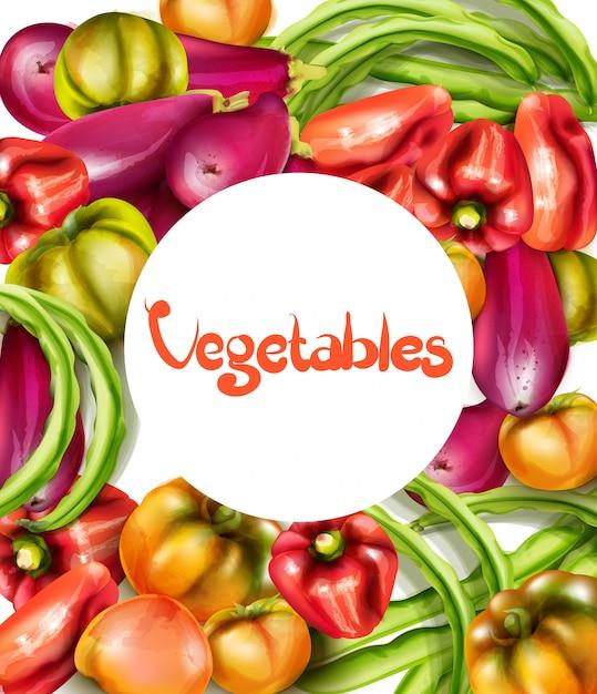 Gemüse auberginen und tomaten aquarell Premium Vektoren