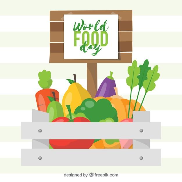 Gemüse hintergrund design Kostenlosen Vektoren