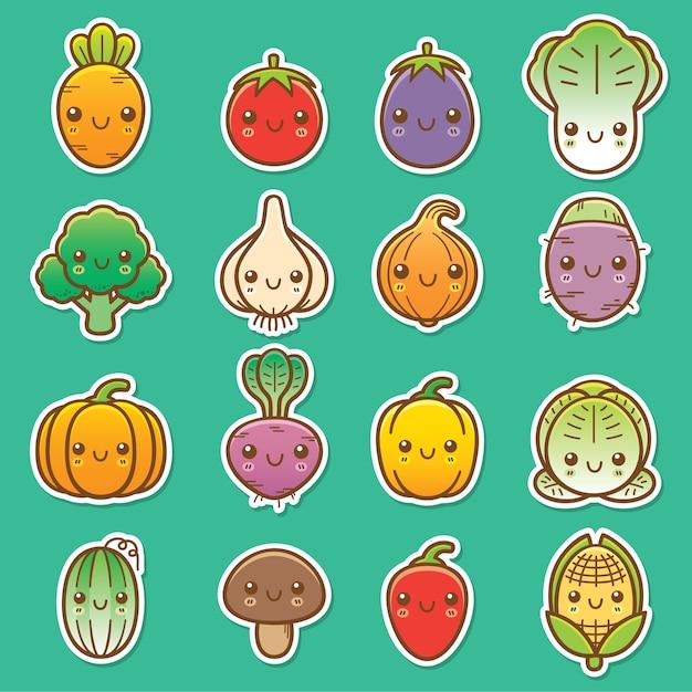 Gemüse-set Premium Vektoren
