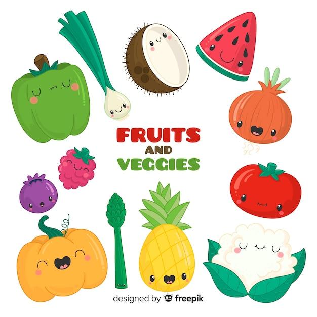 Gemüse und früchte Kostenlosen Vektoren