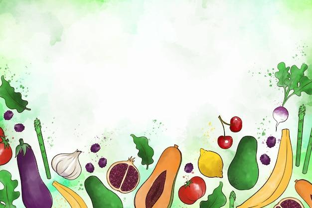 Gemüse und obst hintergrund Kostenlosen Vektoren