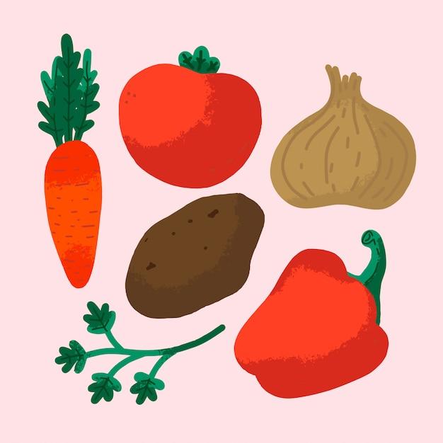 Gemüse. Premium Vektoren