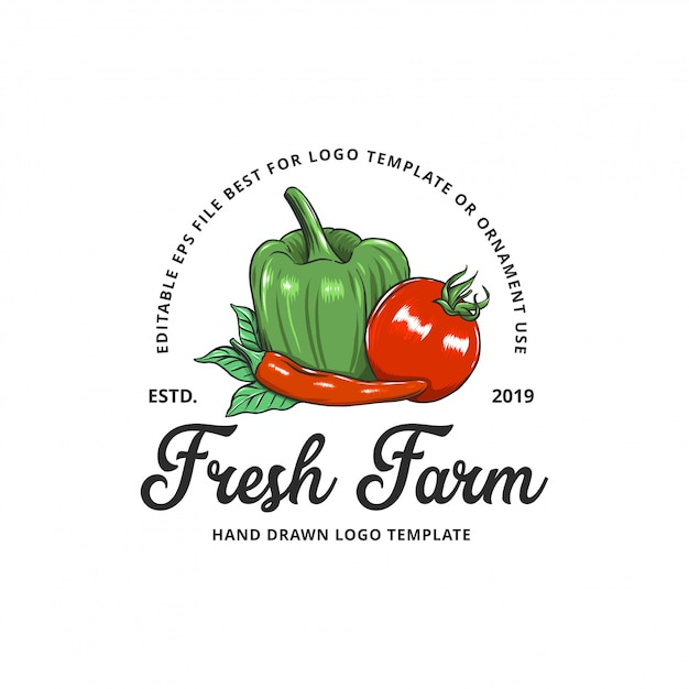Gemüsefarm illustrationen Premium Vektoren