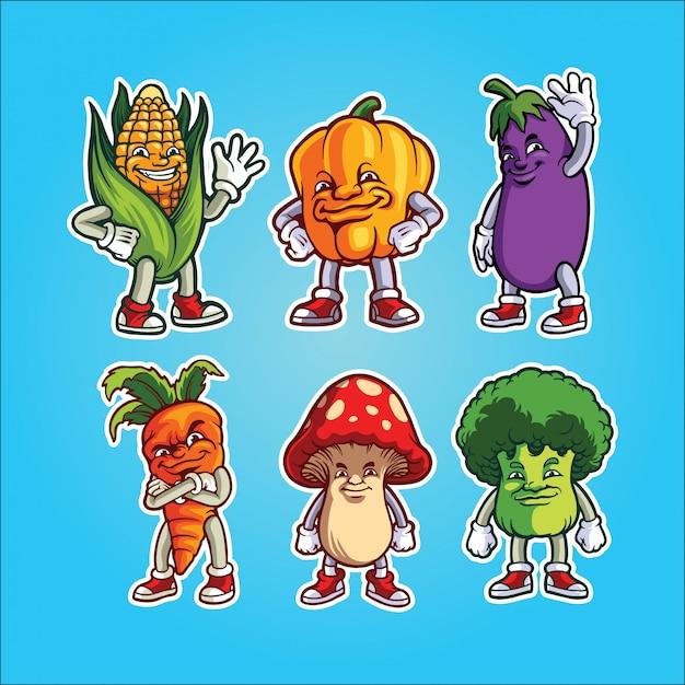 Gemüsegarnitur Premium Vektoren