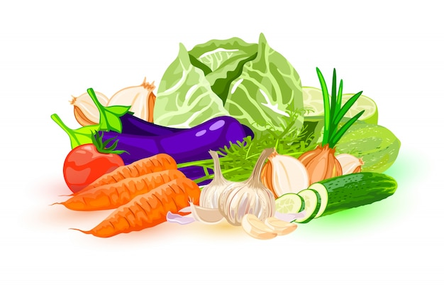 Gemüseillustration Premium Vektoren