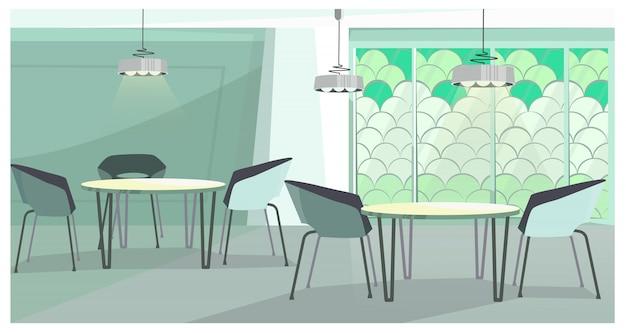 Gemütliches café mit moderner designillustration Kostenlosen Vektoren