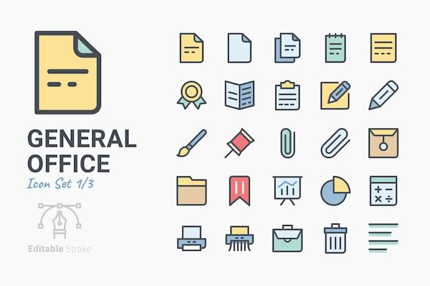 General office-icon-set Premium Vektoren