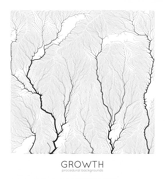 Generatives zweigwachstumsmuster Kostenlosen Vektoren