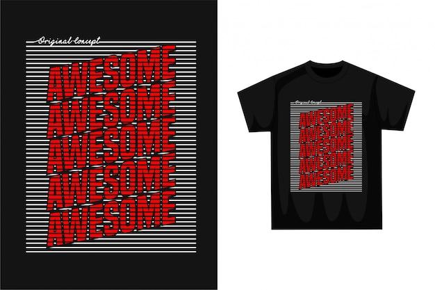 Genial - grafisches t-shirt Premium Vektoren