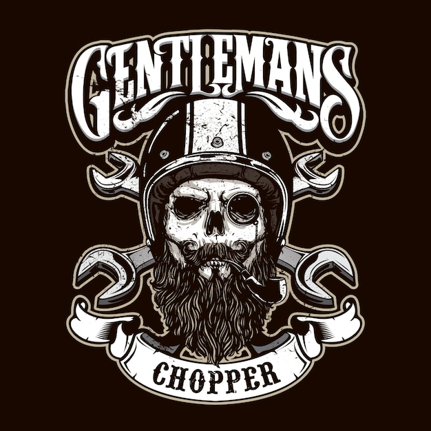 Gentlemen rider logo Premium Vektoren