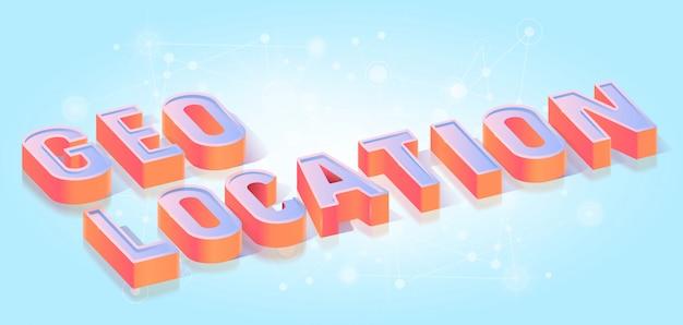 Geo-positionstext titel isometrisch Premium Vektoren