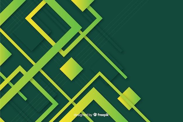 Geoemtrische formtapete mit farbverlauf Kostenlosen Vektoren