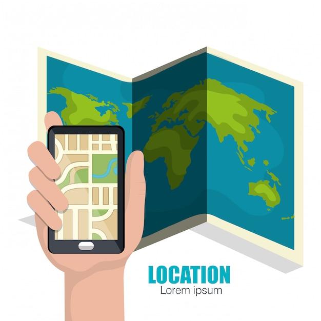 Geografisches ortungssystem Kostenlosen Vektoren
