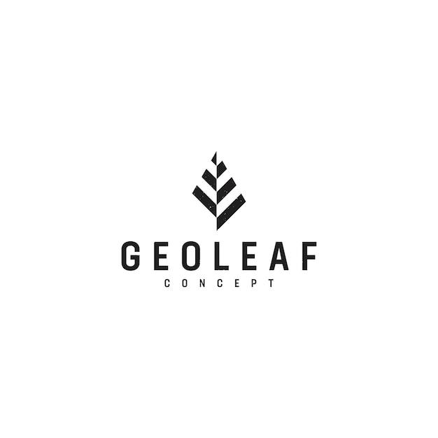 Geoleaf-logo Premium Vektoren